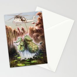 Crocodile selfies Stationery Cards
