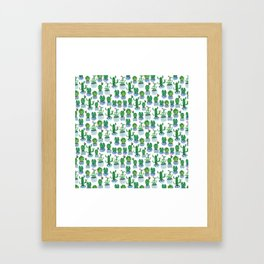 Cactus in Watercolor Framed Art Print
