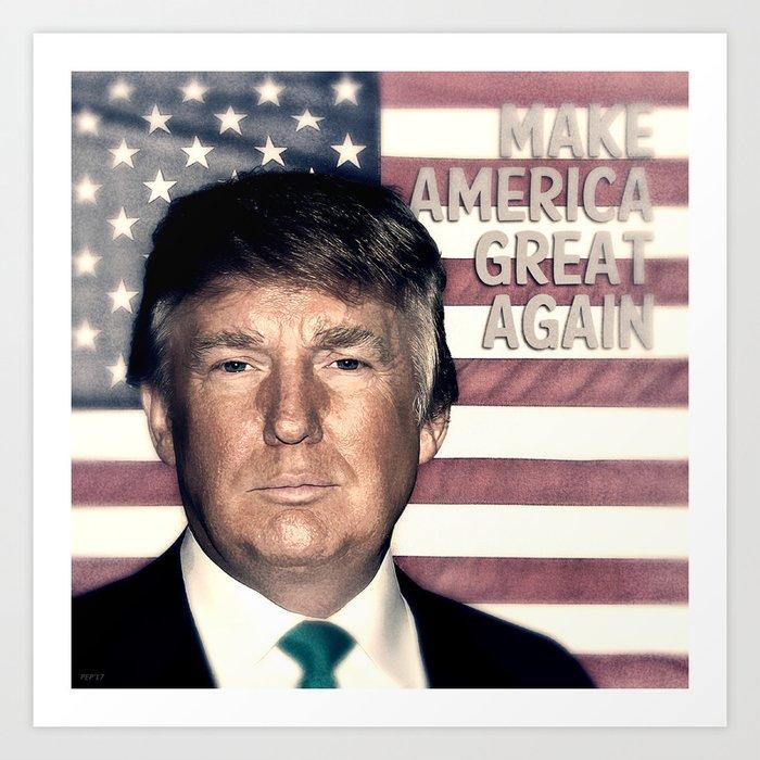 President Donald Trump Art Print