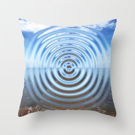 Warped Beach Throw Pillow