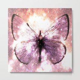 Celestial Butterfly Lavender Pink Peach Metal Print