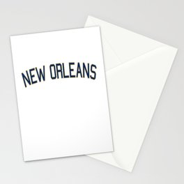 New Orleans Sports College Font Stationery Cards