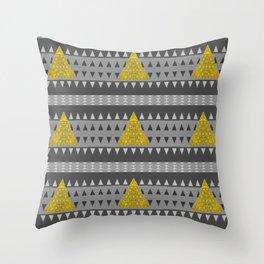 Neo Tribal Meditation Geometric Throw Pillow