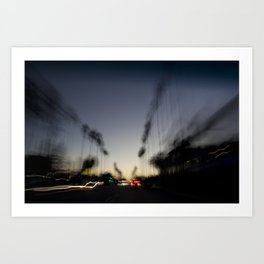 Venice Beach Sunset Art Print