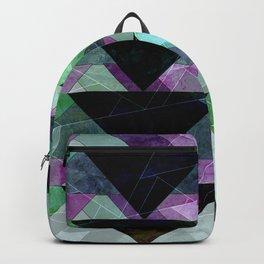 black, green & purple Backpack