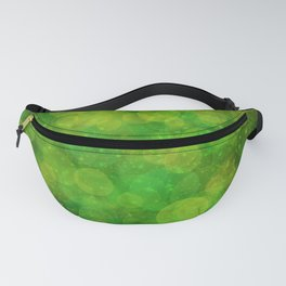 Green Bokeh Glittering Abstract Fanny Pack