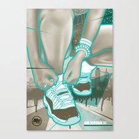 air jordan Canvas Prints featuring Air Jordan XI by Maurice Creative