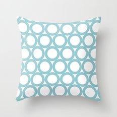 Aqua dots- pattern Throw Pillow