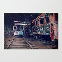 Trams #2 Canvas Print