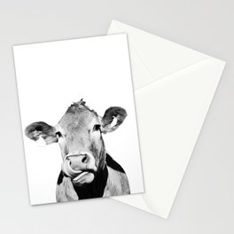 Cow photo - black and white Stationery Cards