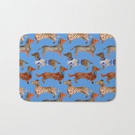 Dachshunds – Cornflower Blue Palette Bath Mat