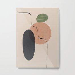 Minimal Abstrac Shapes 18 Metal Print