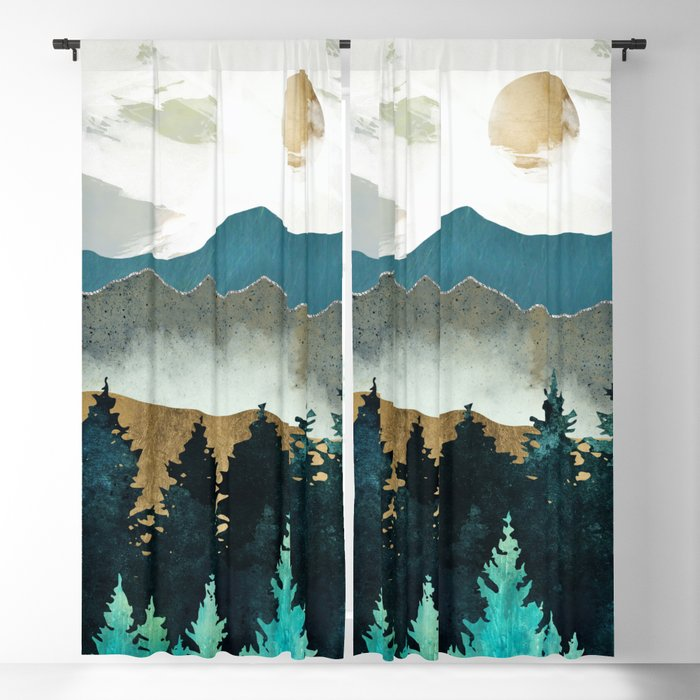 Forest Mist Blackout Curtain
