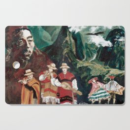 The ANDES             by Kay Lipton Cutting Board