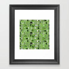 ABC green Framed Art Print