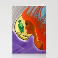 sister Stationery Cards featuring SISTER by KEVIN CURTIS BARR'S ART OF FAMOUS FACES