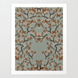 Snow Floral Art Print