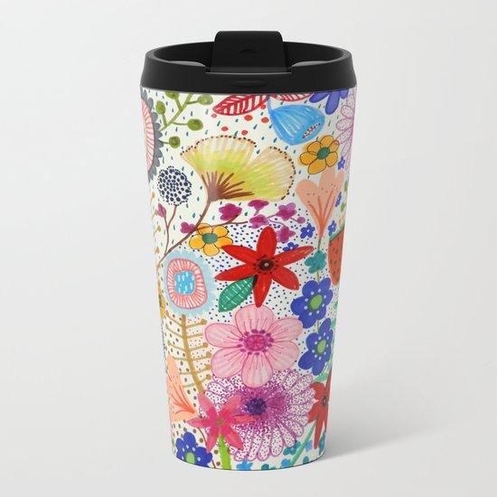 fleur-moi Metal Travel Mug