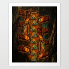 Abstract Totem Art Print