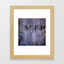 no fly posting Framed Art Print