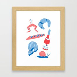 French Food  Framed Art Print