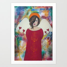 Lost angel Art Print