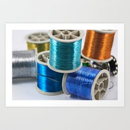 Reels Of Thread Art Print
