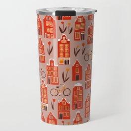 Red Orange Holland Houses Travel Mug