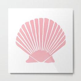 Coral Seashell Metal Print