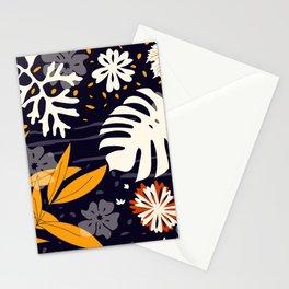 Mediterranean Garden - dark night Stationery Cards