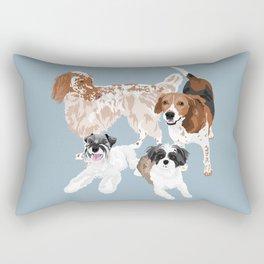 Barclay, Rhett, Ozzie and Gus Rectangular Pillow