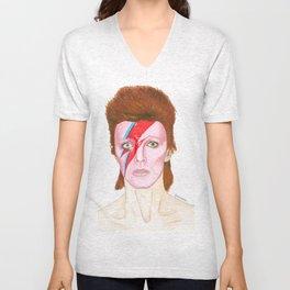 Bowie Pop Star Unisex V-Neck