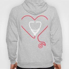 Heart And Stethoscope | Cute Nurse Design Hoody