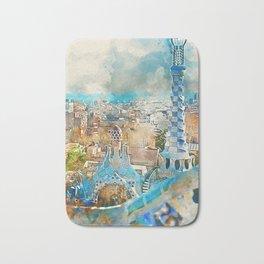 Barcelona, Parc Guell Bath Mat