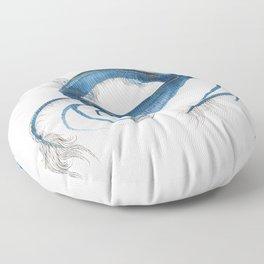 Blue Crab Art Print - Abstract Painting Blue Crab Wall Art Print, Nautical, Coastal, Home Decor Floor Pillow