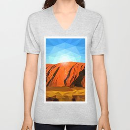 Uluru the Mighty Dreamer - Ayers Rock, Outback - Australia Unisex V-Neck