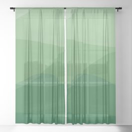 Waves: Forest Bathing Sheer Curtain