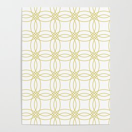 Simply Vintage Link Mod Yellow on White Poster
