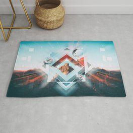 Abstract Geometric Collage I Rug
