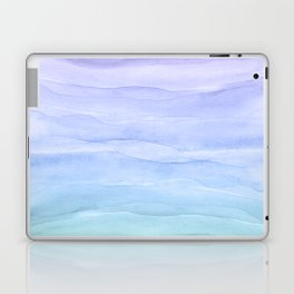 Layers Blue Ombre - Watercolor Abstract Laptop & iPad Skin