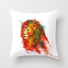 King of Imaginary Beasts Throw Pillow