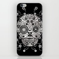 sugar skull iPhone & iPod Skins featuring Sugar Skull by Farnell
