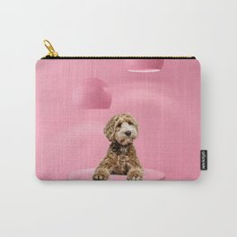 Labradoodle Pastel Color Scene Minimal Collage Carry-All Pouch
