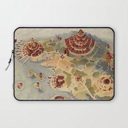 Salt Harbour Map Laptop Sleeve