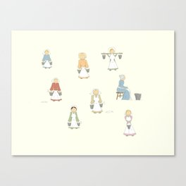 Eight Maids-a-Milking Canvas Print