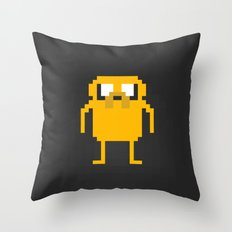 jake pixel Throw Pillow