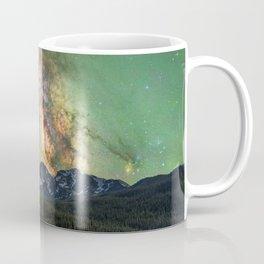 Milky way over nokhu crags Coffee Mug