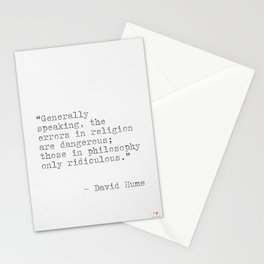 David Hume quote Stationery Cards