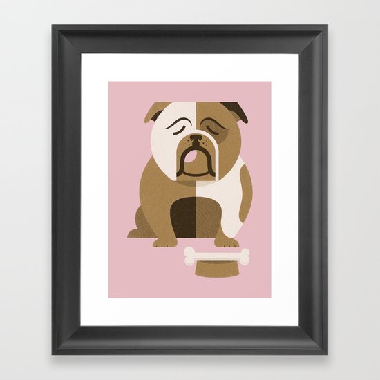 Bulldog Framed Art Print