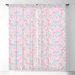 Pink ipomea, morning-glory Blackout Curtain
